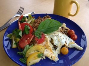 breakfast from farmers market